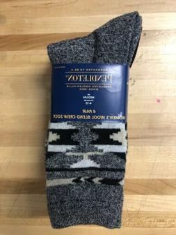 NWT Pendleton Socks Womens 4 Pairs Wool Blend Crew