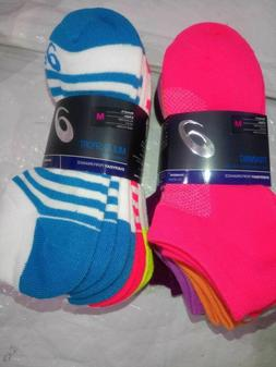 NWT Asics Women Invasion No Show Socks 6 Pack - Diva Pink As