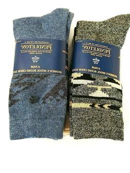 NWT Pendleton Womens Wool Blend Crew Socks 4 Pairs