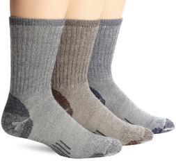 OMNIWOOL Multi-Sport Hiker Socks , Blue/Grey/Brown, Medium