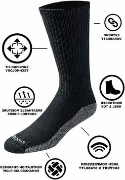 Original Dickies Dri-Tech Men's Crew Socks, 6-Pack, Size 12-