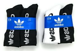 adidas Originals Men's Trefoil Crew 6 Pairs Socks Running At