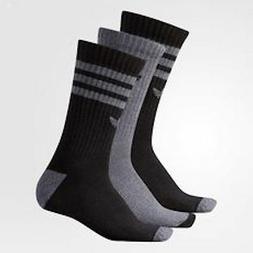 Adidas Originals Roller Crew 3 Pack Grey Gray Black Socks Me