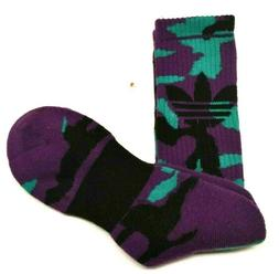 Adidas Originals Socks Purple/Black Men's Shoe Size 6-12 FRE
