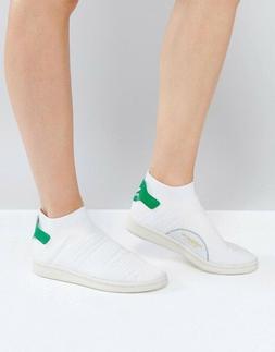 ADIDAS Originals White Stan Smith Primeknit Sock Sneakers US