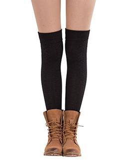 Womens Over Knee Knit Crochet Boot Socks Leggings Winter Hig