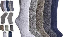 Pack of 5 Womens Winter Socks Warm Thick Knit Wool Soft Mult