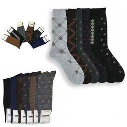 Royal Mens Pattern Dress Casual Socks Cotton Blend Variety.