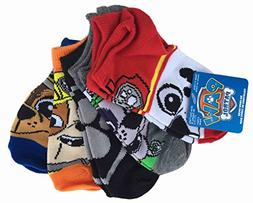 Paw Patrol 5 Pair No Show Socks Medium 7.5-3.5