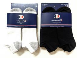 Champion Mens Full Cushioned No Show Socks Size 12-14 XL Bla