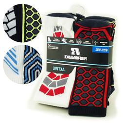 Russell Performance Youth Boys Active Crew Socks 6 Pair Arch