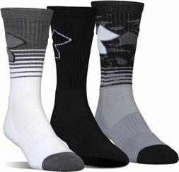 Under Armour Men's 3 Pack Medium Phenom 2 Crew Socks
