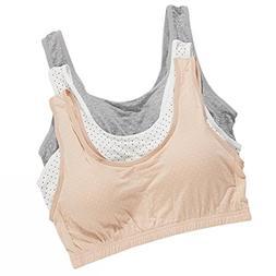 VOCHIC Girls Plus Size Seamless Camisole Cotton Training Pad
