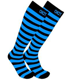 plus size fun striped compression support socks