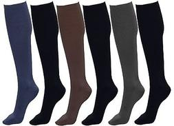 Plus Size Women's Trouser Socks, 6 Pairs, Opaque Stretchy