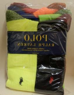 Polo Ralph Lauren Neon Marled Athletic Crew Sock 6-Pack Reta