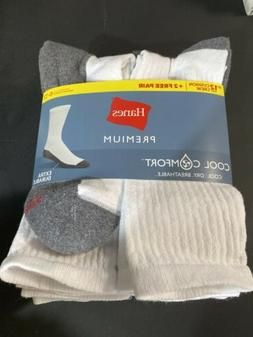 Hanes Premium Cool Comfort Breathable Dry Cool 12 Pairs Sock