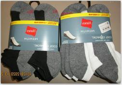 Hanes Premium Cool Comfort Cushioned No Show Socks 12 PK Dry