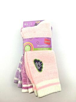 Hanes Premium Girls Comfortsoft Multicolor Crew Socks Large
