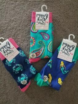 Simply Southern Preppy set of 3  Socks, Dress Socks  NEW WIT