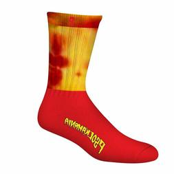 Psockadelic Psockamania Crew Sock - Red/Yellow - 47-0156-030