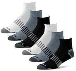 Prince Men's Quarter Performance Athletic Socks for Running,