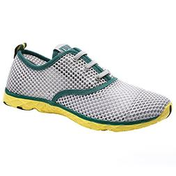ALEADER Men's Quick Drying Aqua Water Shoes Green 13 D US