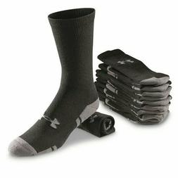 Under Armour Resistor 3.0 Crew Athletic Socks 6 Pack Black/G