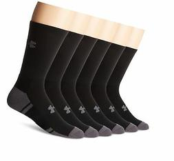 Under Armour Resistor 3.0 Crew Athletic Socks , Black/Graphi