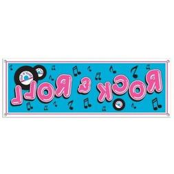 Rock & Roll Sign Banner Party Accessory