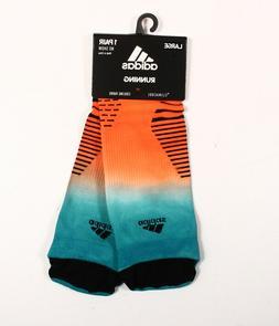 adidas Running No Show Socks , Hi-Res Aqua/Hi-Res Orange/Bla
