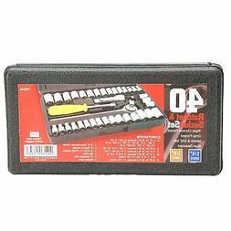 "Standard SAE & Metric 40 PIECE Socket 1/4'' & 3/8"" Drive Rat"