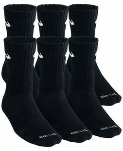 SALE NEW Nike Dri Fit Dry Fit Cotton Black Crew Socks 3 Or 6