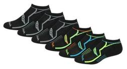 Saucony Men's 6 Pack Performance No-Show Socks Black Asst 10