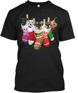 Schnauzer-sock-merry Christmas Hanes Tagless Tee T-Shirt
