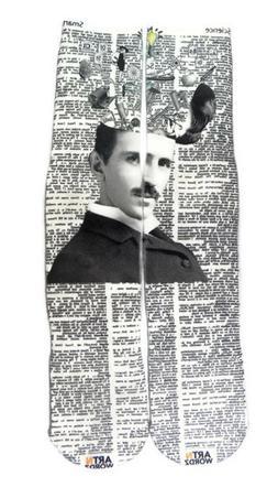 Art N Wordz Apparel Scientist Nikola Tesla Dictionary Print