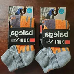 Balega Set of 2 Enduro Socks Large Low Cut Black Gray Orange