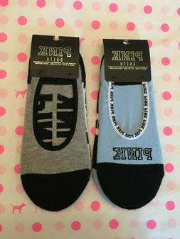 Set of Two  Victoria's Secret PINK Ultimate No show socks ON