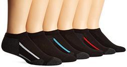 Hanes Boys No- Show Comfortblend Black EZ Sort Socks 434/6B,