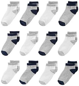 Simple Joys by Carter's Baby Boys' 12-Pack Sock Ankle, Gray,
