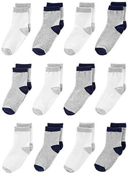 Simple Joys by Carter's Baby Boys' 12-Pack Sock Crew, Gray,