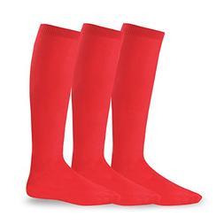 Soxnet Soccer Sports Team 3-pair Cushion Socks-White, Large