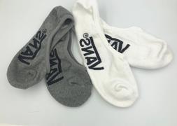 Vans Sock Cotton Blend Classic Super No Show Socks Grey Whit