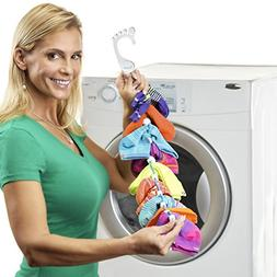 SockDock 2 Pack Sock Laundry Helper & Storage Hangers, Close