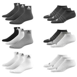 Adidas Socks 3 Pairs Mens Womens Cotton Ankle Liner Quarter