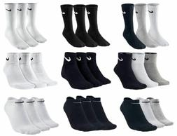 Nike Socks 3 Pairs Mens Womens Crew Ankle Liner Cotton Sport