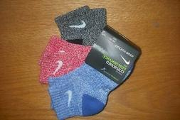 NEW Nike Baby Socks, 6 PAIRS, Size 6-12 Months, BLACK & WHIT