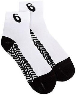 "ASICS ""Snap Down It"" Socks, White/Black, Small"