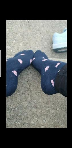 socks, blue, one size, message before buying
