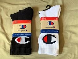 Champion Socks Mens Crew Black White